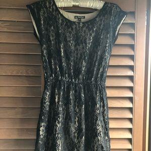 Dresses & Skirts - Black & Nude Lace Dress